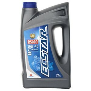 Suzuki Ecstar R5000 Mineral Motorcycle Engine Oil 10w 40 1 Gallon