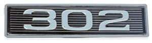 1969 1970 Ford Mustang 302 Classic Hood Scoop Shaker Emblem In Black Chrome