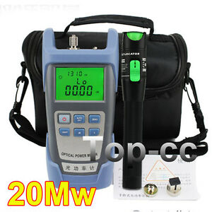 Fiber Optical Power Meter And 15 20km 20mw Visual Fault Locator Cable Tester