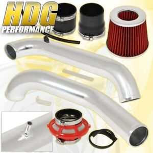96 00 Civic Dx Lx High Performance Cold Air Intake Red Bypass Valve Pipe Filter