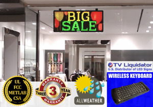 Rgy 78 x16 Outdoor Led Sign Programmable Scrolling Message Display Board Open