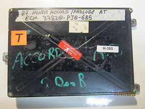 1987 Honda Prelude Accord Ecu Ecm 37820 Pj0 685 See Item Description H 385