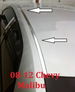 For 2008 2012 Chevy Malibu Chrome Roof Top Trim Molding Kit