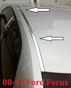 For 2008 2011 Ford Focus Chrome Roof Top Trim Molding Kit