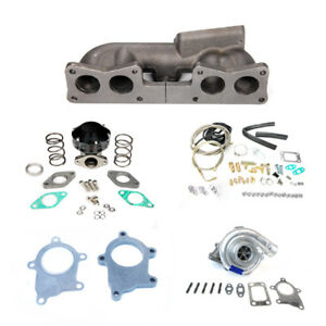 Sohc Top Mount T3t4 63ar Turbo Charger Kit 400hp Fit 89 90 240sx S13 Ka24 Ka24e