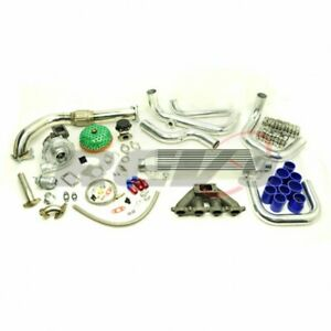Civic Crx Del Sol D15 D16 D series T3t4 T04e Downpipe Manifold Turbo Charger Kit