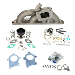 00 05 Mitsubishi Eclipse 4 Cylinder 4g64 Cast T3 Manifold T3t4 Turbo Charger Kit