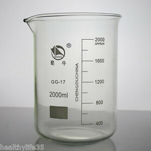 2000ml Lab Glass Beaker Low Form Gg17 Glass Beaker Borosilicate 3 3 Glass