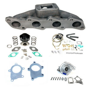 T3t4 Top Mount Manifold Turbo Charger Set Up Kit For 240sx 91 94 95 98 Ka24de