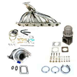 86 92 Supra 7mgte 7m Ma70 Mk3 T4 68ar Top Mount Manifold Turbo Kit 500hp