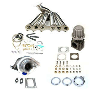 Toyota Supra 93 98 2jz gte T4 Top Mount Manifold Turbo Charger Set Up Kit