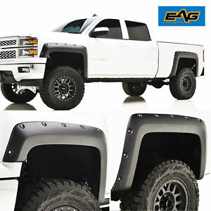 14 18 Chevy Silverado 1500 Fender Flares Fits 6 6 8 0 Ft Bed Pocket Rivet Style