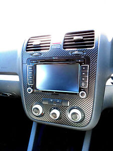 Vw Golf Mk5 Jetta Bora Rabbit Carbon Fibre Effect Dash Surround Air Vents 05