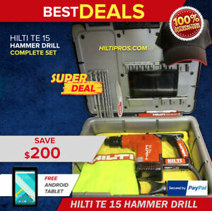 Hilti Te 15 Drill Heavy Duty Case Free Tablet Extras Durable Fast Shipping