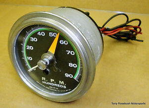 Sun Early Sst 90 Super Tach 9 000 Rpm Green Face Sender Required