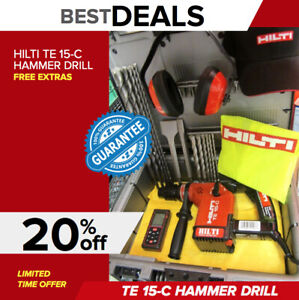 Hilti Te 15 c Drill Free Measuring Laser Bits Made In Germany Fast Shipping