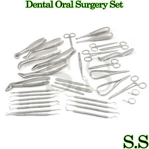 New 35 Pcs Oral Surgery Dental Extraction Set Dentist Instrument S s 161