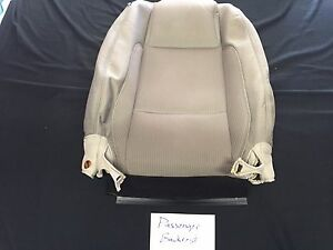 2013 Ford Mustang Oem Tan Cloth Upholstery Front Passenger Backrest Cover Only