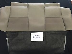 2013 Ford Mustang Convertible Oem Tan Cloth Upholstery Rear Backrest Cover Only