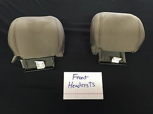 2013 Ford Mustang Convertible Tan Cloth Upholstery Front Headrest Covers Only