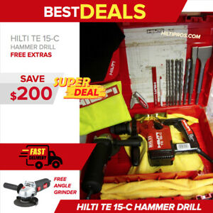 Hilti Te 15 c Drill Drills And Chisels Durable Free Angle Grinder fast Ship