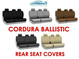 Coverking Cordura Ballistic Custom Fit Rear Seat Covers For Honda Ridgeline