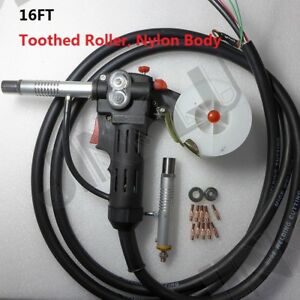Toothed Roller 16 Feet Mig Spool Gun Wire Feed Aluminum Welder Torch Weld Parts