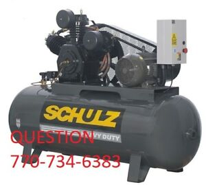 Schulz Air Compressor 15hp 120 gallon Two stage 60 Cfm New