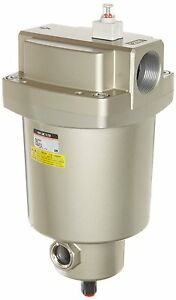 Smc 1 1 2 Main Line Filter 212 Cfm W Auto Drain Removes Oil Water Particles