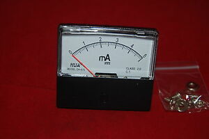 Dc 5ma Analog Ammeter Panel Amp Current Meter Dc 0 5ma 60 70mm Directly Connect