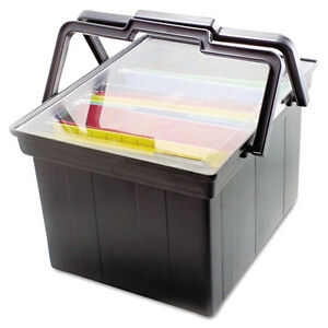 Companion Portable File Storage Box Legal letter Plastic Black Avttlf2b