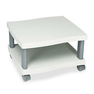 Under Desk Printer Stand 4 Casters 20 x17 1 2 x11 1 2 gray Saf1861gr