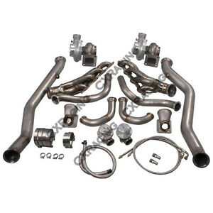 Cx Twin Turbo Manifold Header Downpipe Kit For 63 65 Chevrolet Chevelle Ls1 lsx