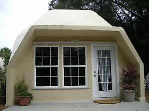Prefab Home Kit Geodesic Tiny Dome Home Fire Resistant High Wind Warranty