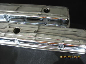 Chevrolet Small Block Chrome Valve Covers Four Side Bolts