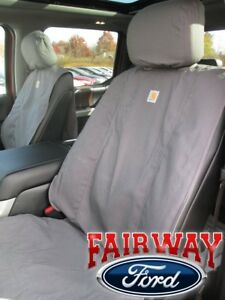 15 Thru 19 F 150 Genuine Ford Carhartt Front Captain Chair Seat Covers Gravel