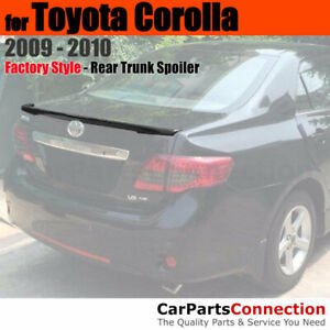 Primer Abs Rear Trunk Spoiler Flush End Deck Wing For 2009 2010 Toyota Corolla