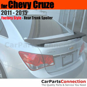 Primer Abs Rear Trunk Sport 2 Post Spoiler Wing For 11 15 Chevrolet Chevy Cruze