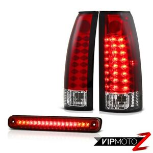 Oe Style 88 98 Chevy Silverado Sierra Ck 1500 2500 3rd Cargo Led Tail Light Red