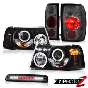 Projector Headlights Smoke Red Tail Lights Third Brake Led 2001 2011 Ford Ranger
