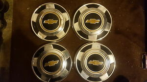 Vintage Chevy Dogdish Hubcaps