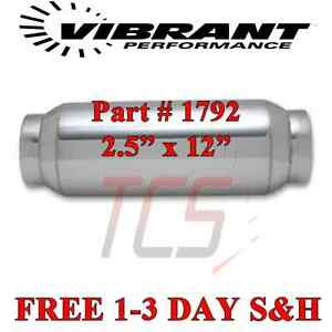 2 5 X 12 Oal Vibrant Performance Exhaust Resonator Stainless Steel 1792