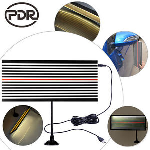 Pdr Lined Reflector Board W Two Sides Paintless Dent Repair Line Board Led Light