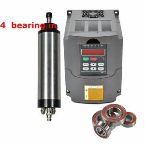 Four Bearing 2200w Water cooled Spindle Motor And 2 2kw Inverter Drive Vfd Ce