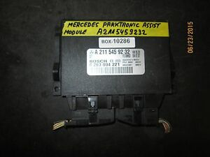 Mercedes Parktronic Assist Module A2115459232 Box 10286 See Item Description