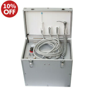 Portable Dental Unit Turbine air Compressor suction System triplex Syringe 4hole