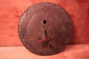 Punched Tin Sconce Made From Toleware Lid West Pennsylvania 20th C