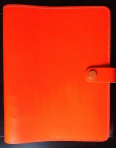Filofax Neon Fluro Orange A5 Leather Planner
