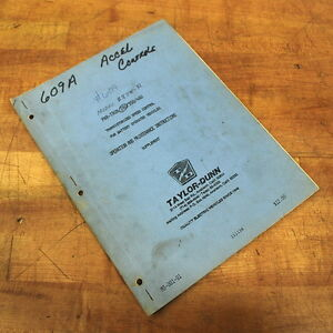 Taylor dunn M3 001 01 Operation Maintenance Instructions Supplement Used