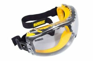 Dewalt Safety Goggles Concealer New Eye Protection Glasses Clear Anti fog Lens